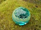 Mdina small Glass paperweight blue and green 4cm high