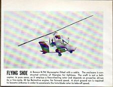 1957 Magazine Photo Benson B-7M Gyrocopter Helicopters Flying Shoe