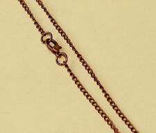"Antiqued Copper Alloy 3x2mm Thin Link 24"" Curb Chain Necklace"