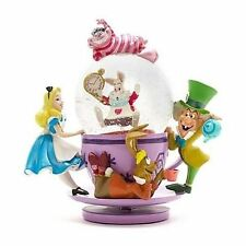 Disney Parks Alice in Wonderland Mad Tea Party Snowglobe Mad Hatter Spinning