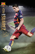 AWESOME Luis Suarez GAME NIGHT 2016 FC Barcelona Football Soccer Action POSTER