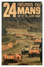 24 HEURES DU MANS vintage ad poster FRENCH SPORTS classic cars 24X36 UNIQUE