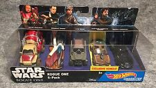 Hot Wheels Star Wars Rogue One 5 Pack Cassian Andor Exclusive Car New Ship Ready
