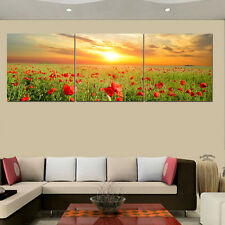 Unframed HD Canvas Prints Home Decor Wall Art Picture Poster Poppy Flowers