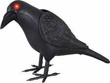 HALLOWEEN  ANIMATED CROW BLACK BIRD LIGHTS HAUNTED HOUSE  PROP DECORATION