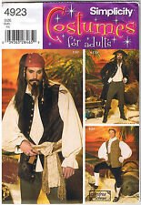 Mens Pirate Renaissance Colonial 18th Century Nobelman Costume Pattern XS S M