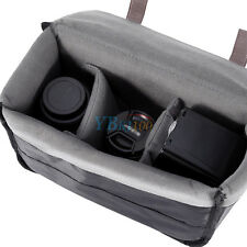 Gray Shockproof Camera Insert Partition Padded Bag For DSLR SLR Lens