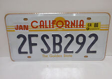 MATRICULA USA CALIFORNIA 1988 REPLICA LICENSE PLATE