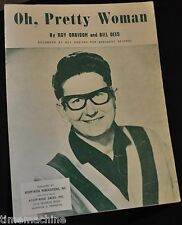 Oh, Pretty Woman by Roy Orbison and Bill Dees Sheet Music 1964