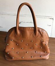 Vintage Furla Handbag Brown Gold Studded
