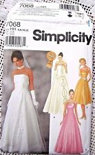 "7068 SEWING PATTERN~UNCUT~MISSES SZ 6-12~PROM/EVENING GOWN/""WEDDING"" DRESS ++"