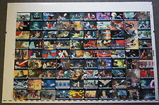 STAR WARS THE CLONE WARS MOVIE Full Uncut Sheet of 90 Trading Cards by TOPPS