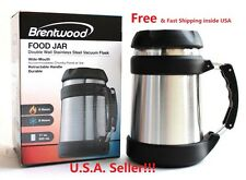 Brentwood Food 17 Oz Jar Double Wall Stainless Steel Vacuum Flask Wide-Mouth