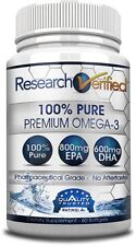 Research Verified Premium Omega-3 - Fish Oil Supplement | EPA | DHA - 1 Bottle