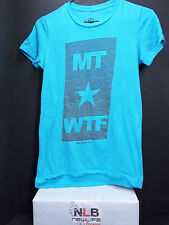 Men's Turquoise TShirt with MT-WTF White Stars & Stripes Logo Size Small