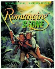 MICHAEL DOUGLAS hand-signed ROMANCING THE STONE poster 8x10 authentic w/ COA