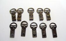 10 Quality Solid Brass Hooks fits 13 mm straps.Leather Bag/Shoe Hardware (B16)