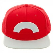 NINTENDO POKEMON ASH KETCHUM XY SNAPBACK HAT CAP RED WHITE COSTUME ADJUSTABLE