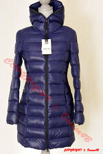 $315 Soia & Kyo Hooded Lightweight Quilted Down Jacket Puffer Coat Small Blue