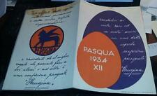 perugina pasqua 1934- pieghevole pubblicitario illustrato confezioni pasquali
