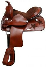 "12"" Pony saddle with silver laced  cantle."