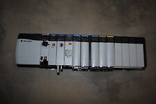 ALLEN BRADLEY CONTROLLOGIX LOADED 13 SLOT RACK COMPLETE  SYSTEM WITH 1756-L72