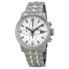 Tissot T-Sport PRC 200 Automatic Chronograph White Dial Stainless Steel Mens