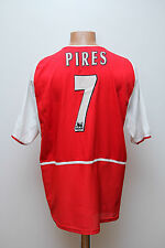 ARSENAL LONDON 2002/2003 HOME FOOTBALL SHIRT JERSEY MAGLIA ENGLAND NIKE PIRES #7