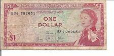 EAST CARIBBEAN STATES, $1 ,QEII,P#13d, ND(1965)