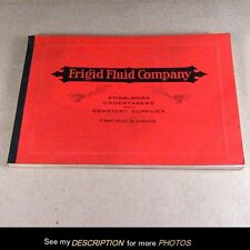 1930-40 Frigid Fluid Co Embalming Undertaker Cemetery Supply Catalogue MINT