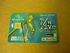 *TELECARD PHONECARD BELGACOM (98) BELGIUM TORHOUT WERCHTER T/W LIVE ON THE WEB