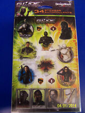 G.I. Joe Rise of Cobra Movie Military Birthday Party Favor Scrapbook Stickers