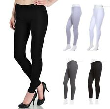 PLUS SIZE Plain Solid COTTON SPANDEX Leggings  1XL 2XL 3XL