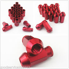 20 Pcs Racing Red Racing Wheel Screw Lugs Nut M12 x 1.5MM for Honda Acura
