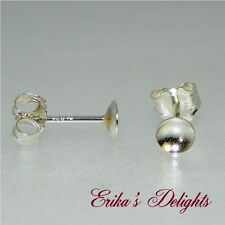 6mm Bead / Pearl Cup Sterling Silver Earring Settings (No Peg)