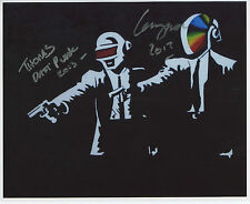 Daft Punk SIGNED Photo 1st Generation PRINT Ltd No'd + Certificate /1