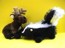 GANZ Plush WEBKINZ Reindeer HM137 Skunk HM213 Wild Animal Buck Deer Polecat NEW