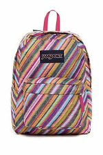 Jansport Superbreak Backpack JS00T5010JW MULTI-TEXTURE STRIPE  MSRP $55