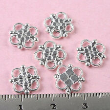 100pcs Silver tone lucky knot connectors h0167