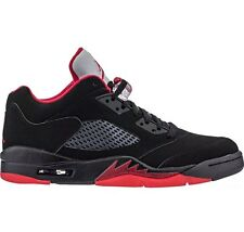 NIKE AIR JORDAN 5 V RETRO LOW ALTERNATE BLACK-GYM RED Mens SZ 12 (819171-001)