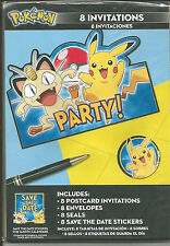 Pokemon Birthday Party Invitations 8 Cnt - Party Supplies/Gifts