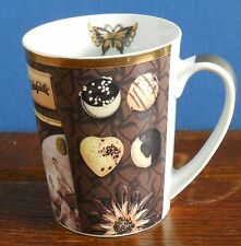 An Andrea Tilk French chocolate / coffee design Porcelain mug by ppd