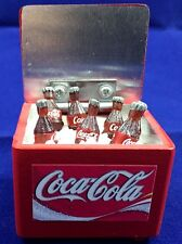 COCA COLA COKE BUCKET COOLER, ICE & 7 BOTTLES 3D MINIATURE COLLECTIBLE DOLLHOUSE