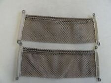 "UNIVERSAL BEIGE CARGO NET PAIR (2) 18"" X 6"" WITH POCKET MARINE BOAT"