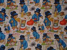 Vintage PADDINGTON BEAR Large Fabric Panel #1 (134cm x 95cm)
