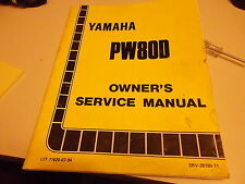 used owners service manual for yamaha pw80d  3rv-28199-11 fair condition. Look