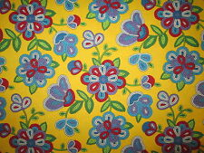 Navajo Native American Beaded Like Floral Yellow Print Cotton Fabric BTHY