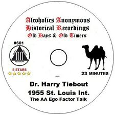 Alcoholics Anonymous AA 12 Step Speaker CD - Dr Harry Tiebout Ego Factor