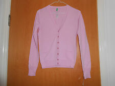 Lovely Ladies Benetton Pink cardigan, BNWT, XS