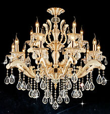NEW 35 1/2'' 15 LIGHTS CLEAR CRYSTAL CHANDELIER PENDANT LAMP CEILING LIGHT